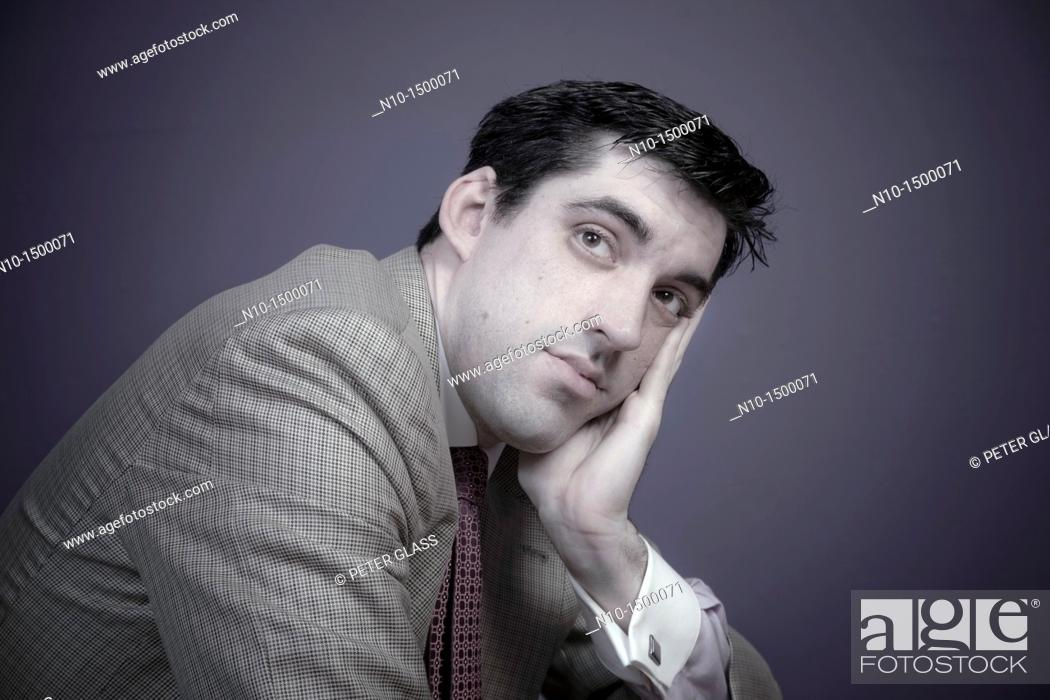 Stock Photo: Man wearing a tie.