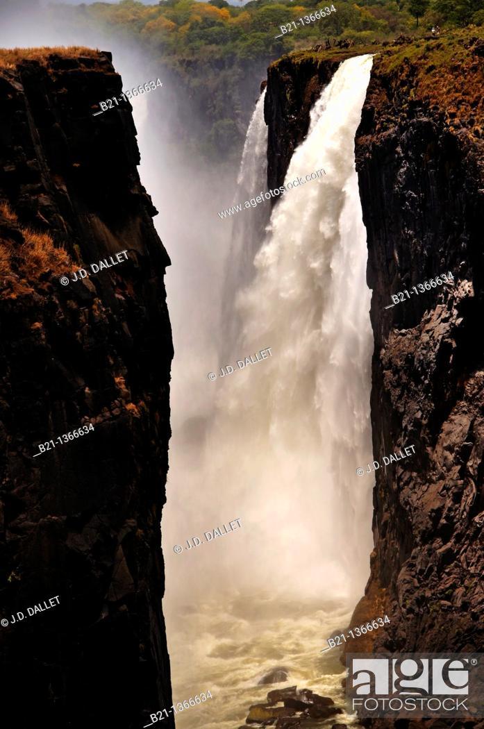Stock Photo: Victoria Falls, Zimbabwe.