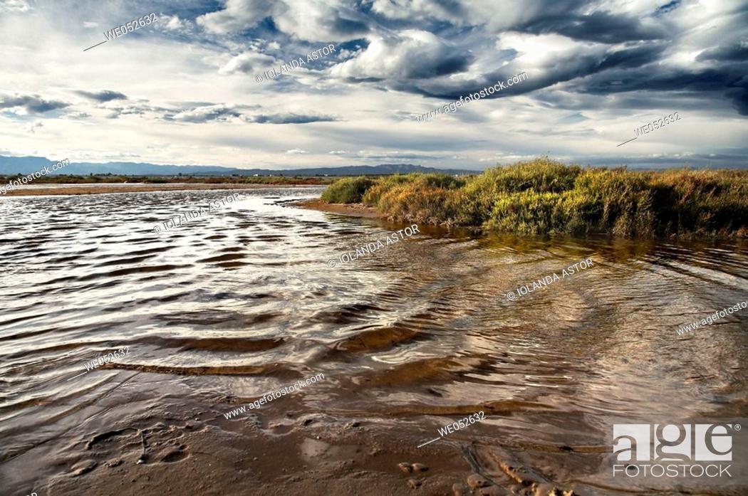 Imagen: Alfacs bay as seen from Trabucador peninsula, Ebro Delta National Park. Tarragona province, Catalonia, Spain.