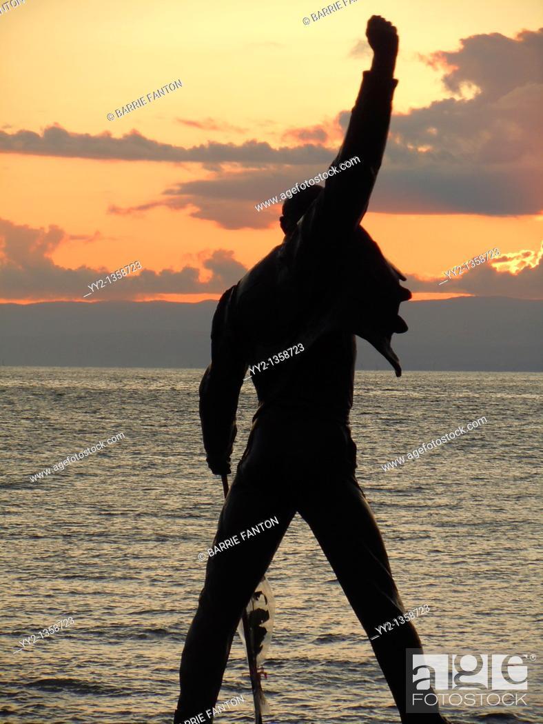 Stock Photo: Freddie Mercury Statue, Montreux, Switzerland.