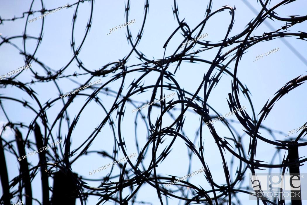 Stock Photo: Detail of razor wire.