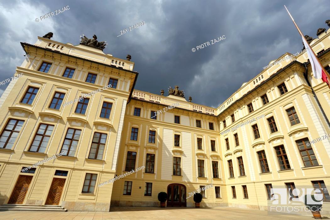 Stock Photo: Castle in Prague, Czech Republic.