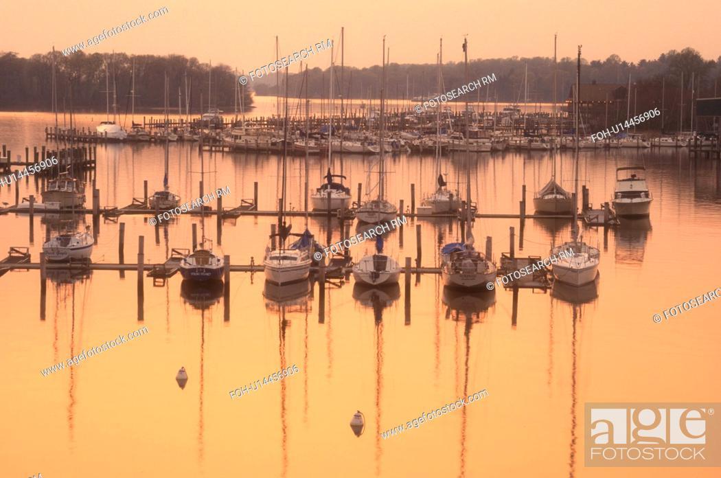 sunset, sunrise, marina, Georgetown, Maryland, Sunset over