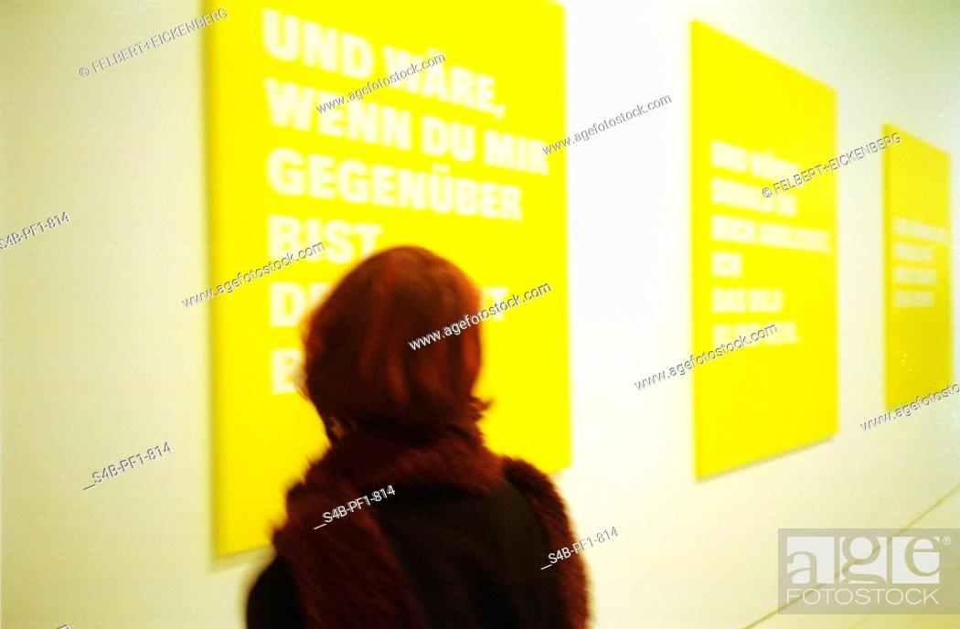 Stock Photo: Woman in modern Exhibition.