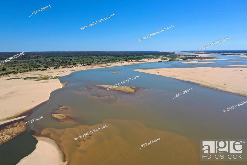 Stock Photo: Mangoky river on the road from Manja to Morombe, Madagascar.