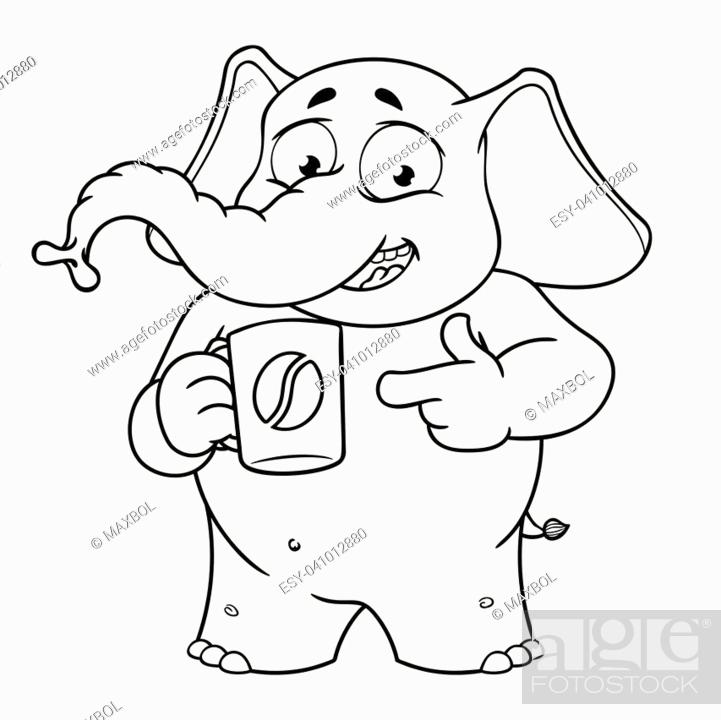 Elephant Cute Nick Elephant Character Coffee Break Offers A Cup Of Coffee Stock Vector Vector And Low Budget Royalty Free Image Pic Esy 041012880 Agefotostock