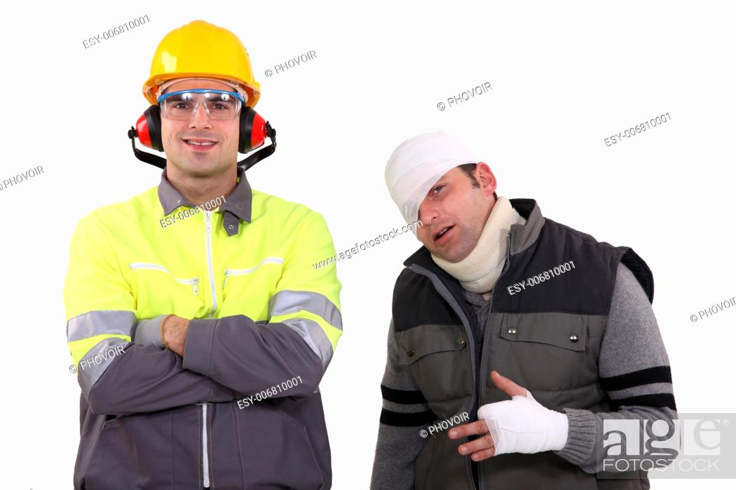 Stock Photo: Safety in the workplace.