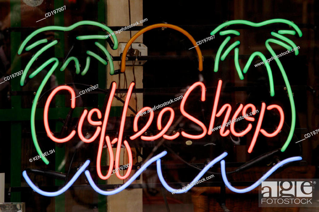Stock Photo: Coffee shop sign. Amsterdam. Holland.