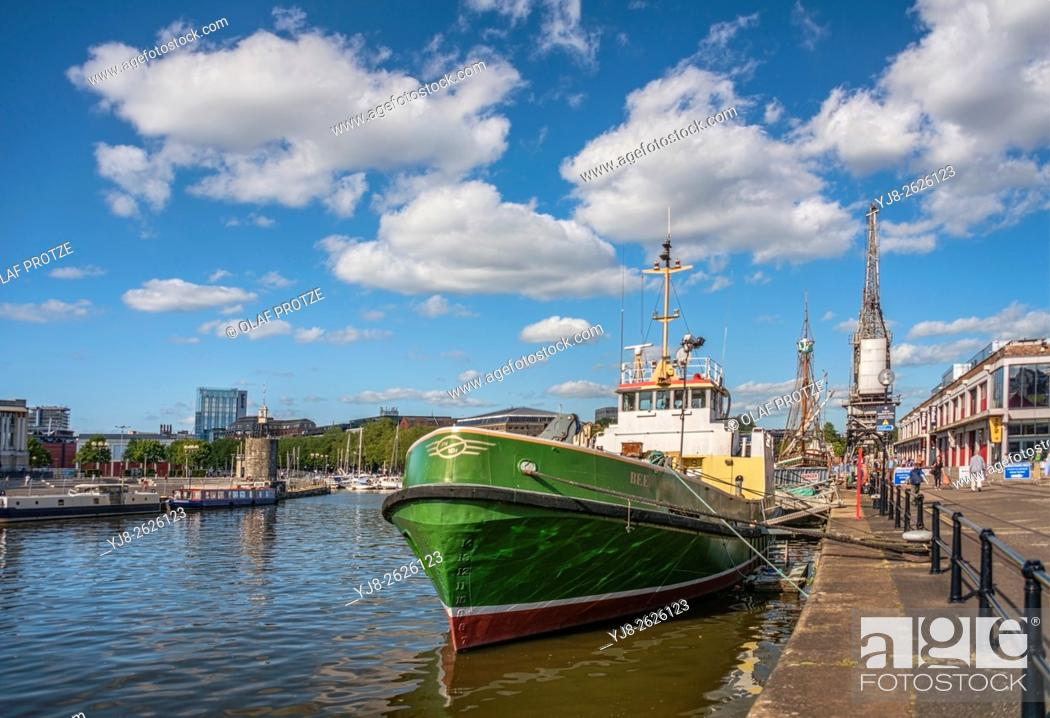Stock Photo: Fishing ship at the Bristol Harbor Railway and M-Shed Museum, Somerset, England, United Kingdom.