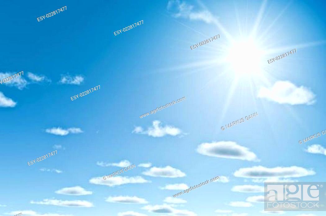 Stock Photo: bright sun.