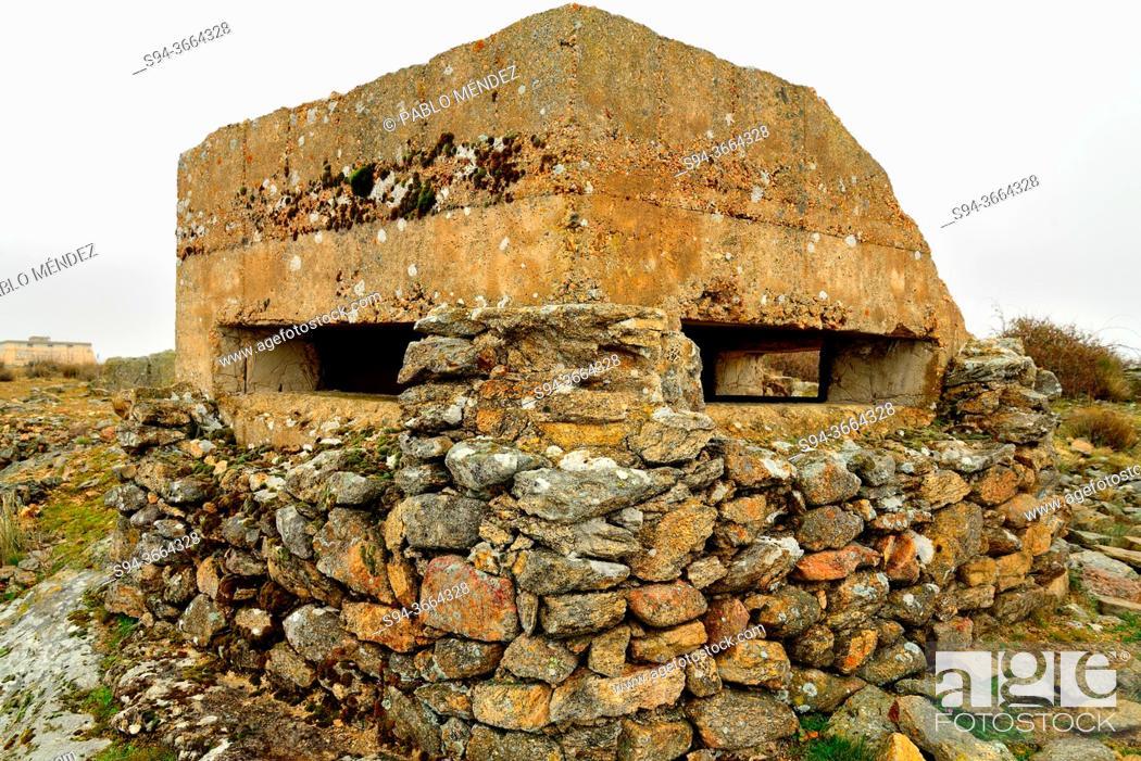 Stock Photo: Bunker of Somosierra front, Piñuecar-Gandullas, Madrid, Spain.
