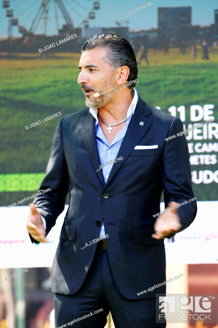 Stock Photo: Alexandre Fonseca, CEO of Altice Portugal, in the presentation of Meo SW Music Summer Festival at Azambujeira do Mar, Portugal.