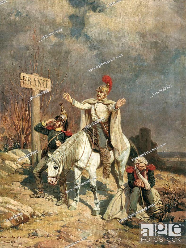 Imagen: Villevalde Bogdan Pavlovich - How Do You Do Dear France - Russian School - 19th Century.