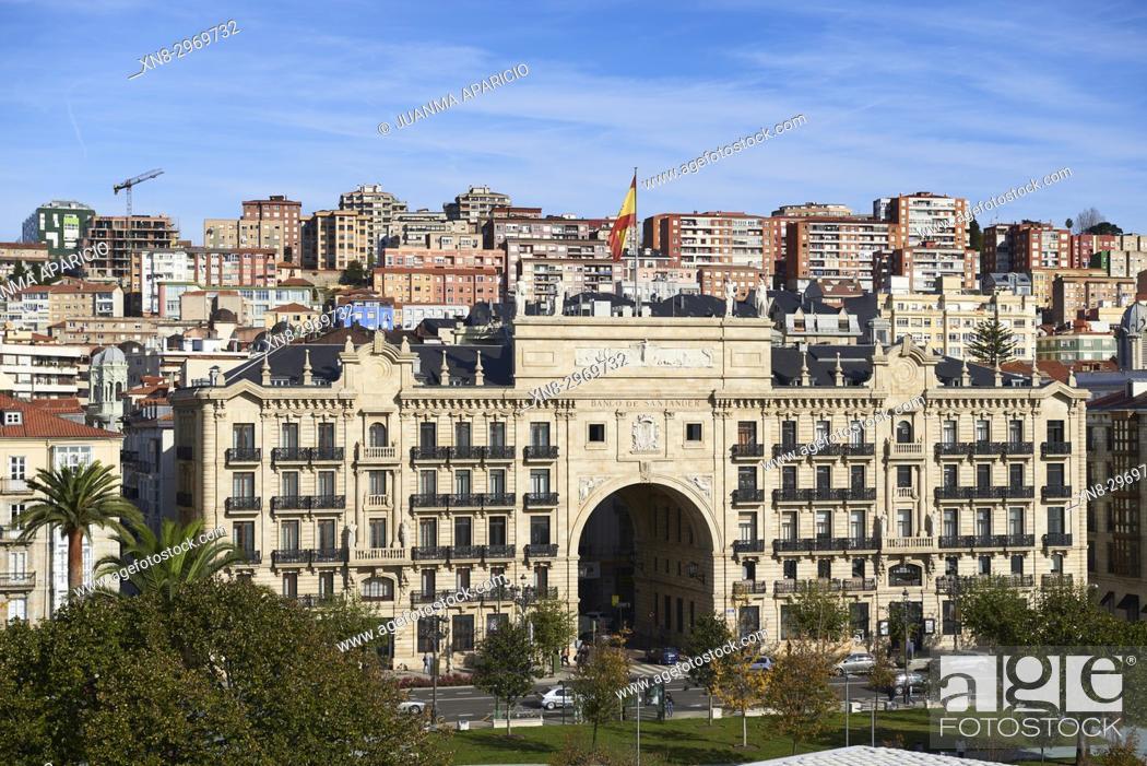 Stock Photo: Banco de Santander, Santander, Cantabria, Spain, Europe.