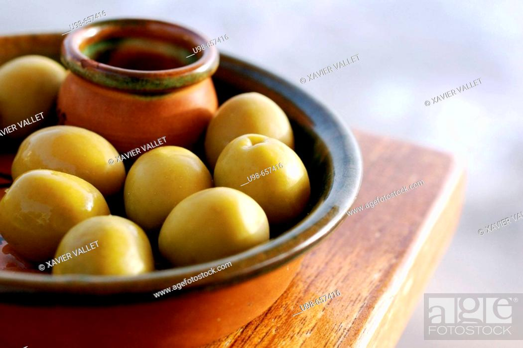 Stock Photo: Olives, 'tapa' from Formentera. Balearic Islands, Spain.