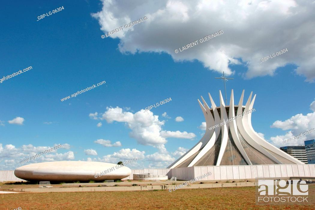 Stock Photo: Metropolitan cathedral Ours Mrs. Aparecida, Distrito Federal, Brasília, Brazil.