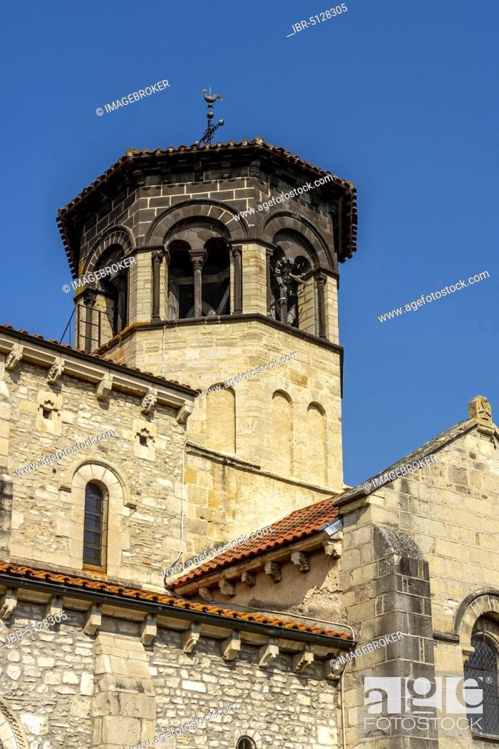 Stock Photo: Romane church of Thuret, Puy de Dome department, Auvergne-Rhone-Alpes, France, Europe.