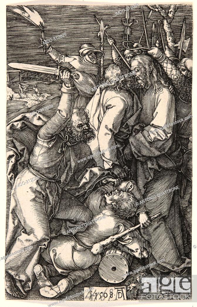 Imagen: Christ Taken Prisoner, by Albrecht Durer, 1508, 16th Century, burin engraving.