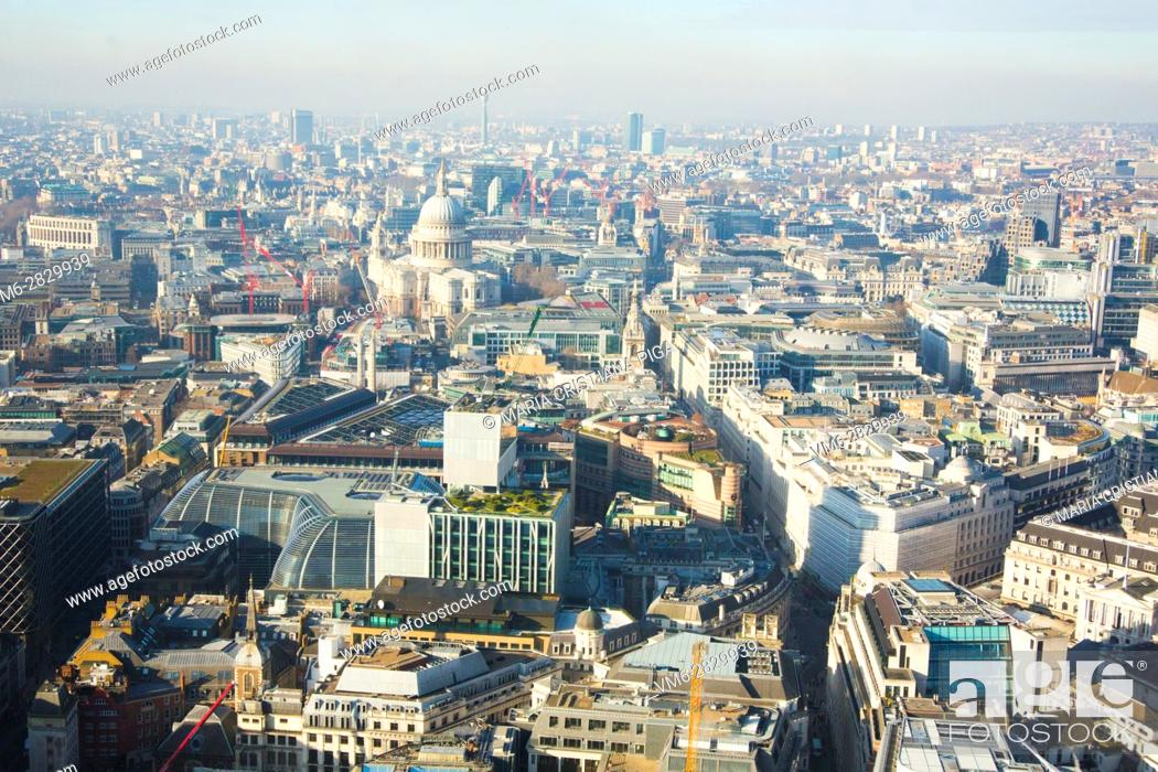 Stock Photo: Aerial view of London.