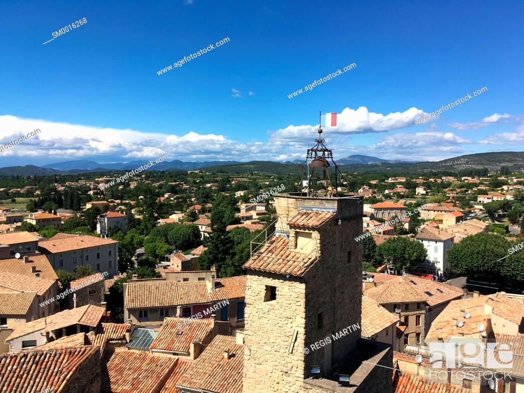 Stock Photo: The provencal village of Malaucene in Vaucluse, Provence Alpes Cote d'Azure in France.