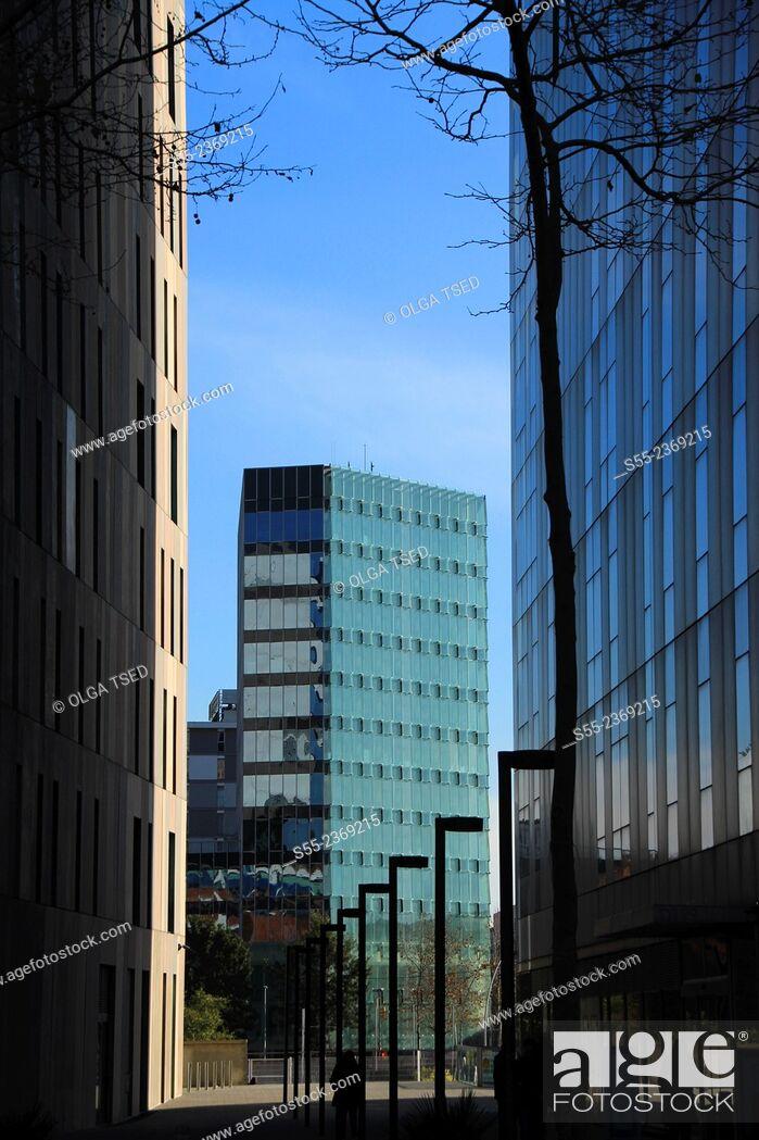 Stock Photo: Modern buildings. Barcelona, Catalonia, Spain.