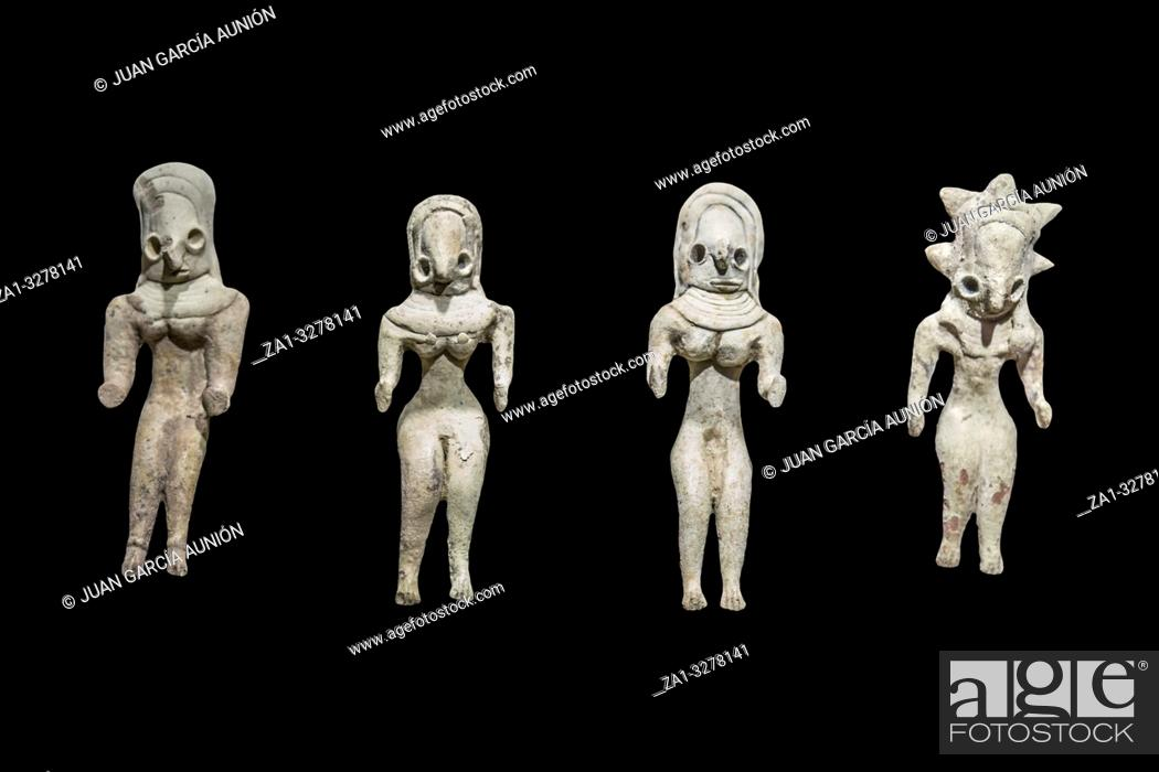 Imagen: Clay figurines from late Mehrgarh Indus Valley people, 3000 BC.