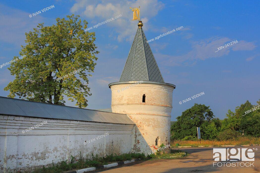Stock Photo: Tower of Luzhetsky Monastery, Mozhaysk, Moscow region, Russia.