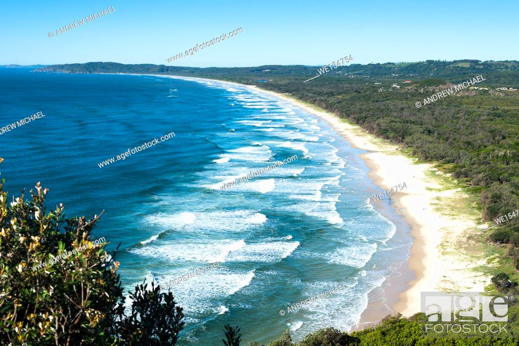 Stock Photo: Byron Bay, New South Wales, Australia. Tallow Beach bordering Arakwal National Park.