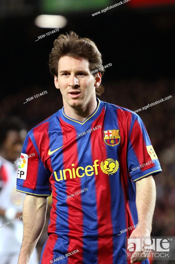Stock Photo: Barcelona, Camp Nou Stadium, FC Barcelona, Leo Messi, 2010.