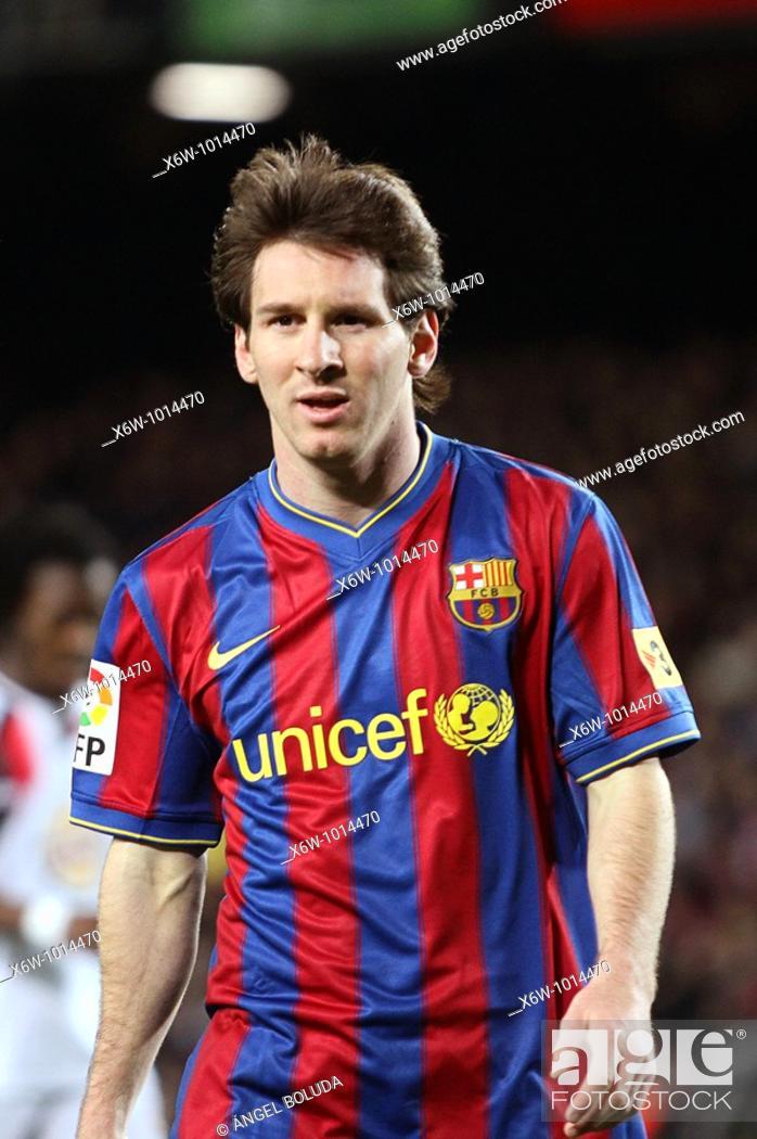 Stock Photo: Barcelona, Camp Nou Stadium, FC Barcelona, Leo Messi, 2010.