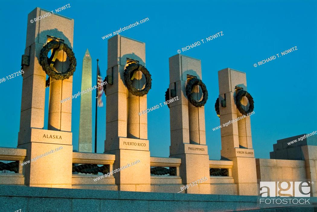 Stock Photo: World War 2 Memorial.
