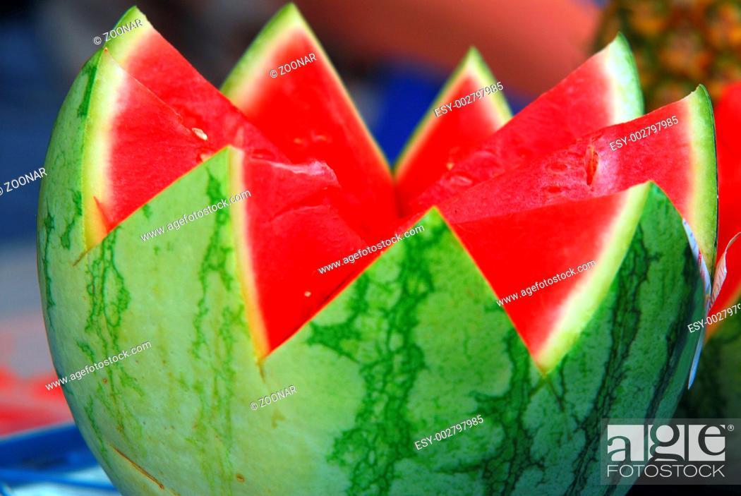 Stock Photo: Wassermelone, gezackt.