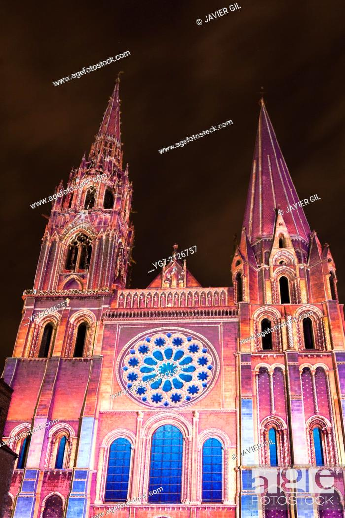 Stock Photo: Cathedral of Chartres, Eure-Et-Loir, Centre, France.