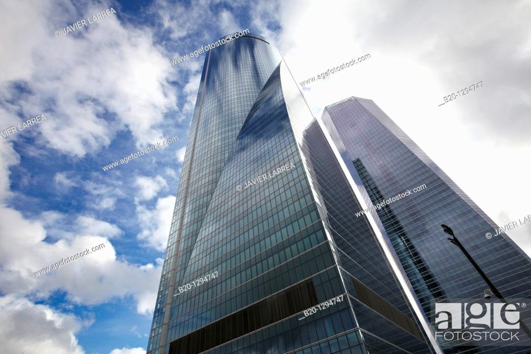 Stock Photo: Torre Espacio, CTBA, Cuatro Torres Business Area, Madrid, Spain.
