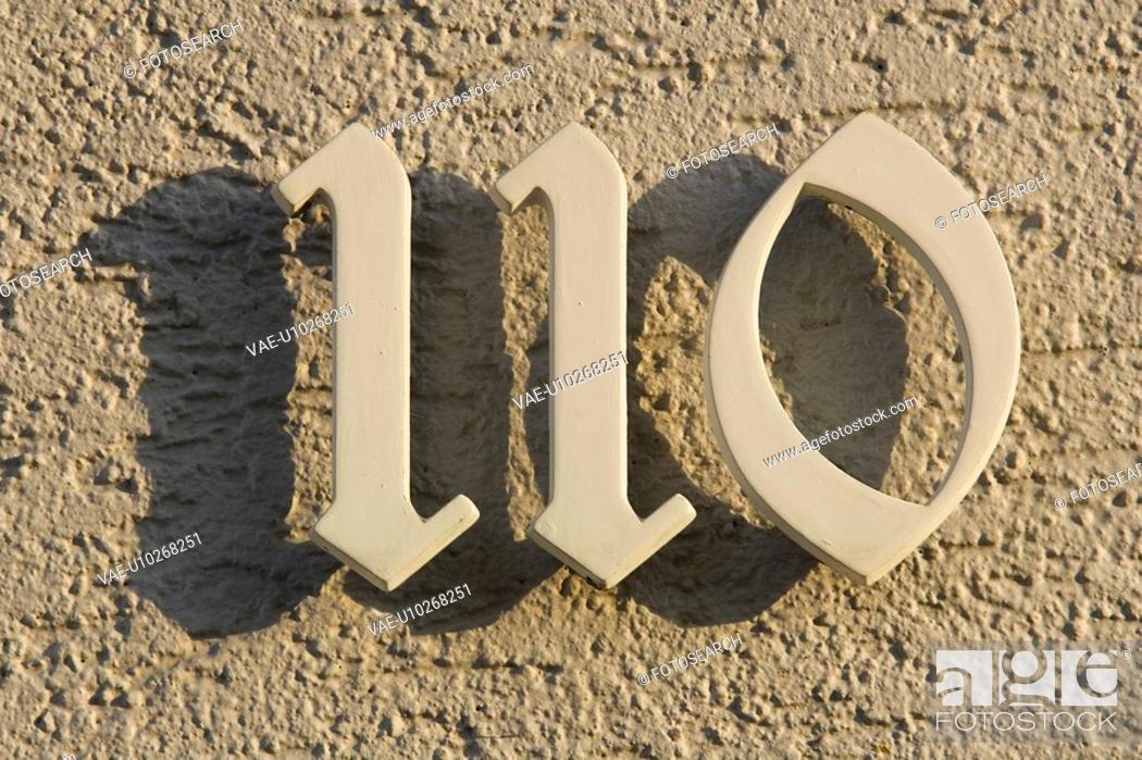 Stock Photo: Concrete, Number, Address.