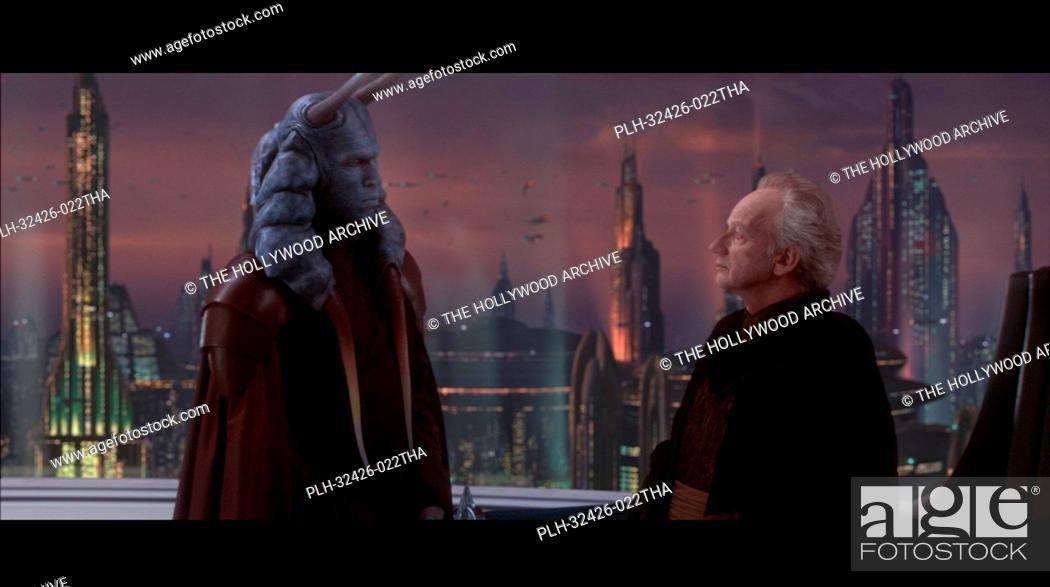 Photo de stock: David Bowers, Ian McDiarmid, 'Star Wars Episode II: Attack of the Clones' (2002).