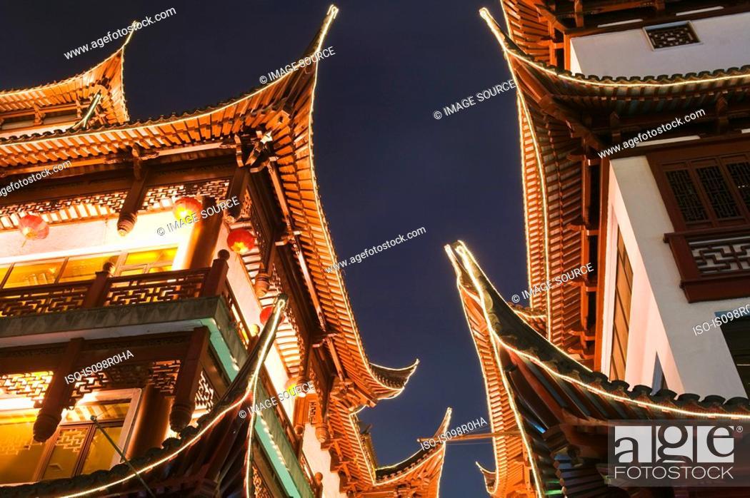 Stock Photo: Yu garden shanghai.