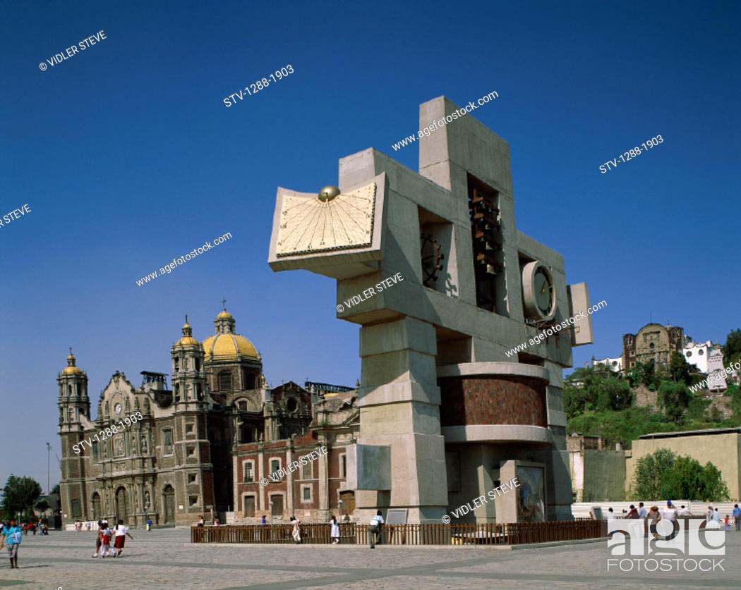 Stock Photo: Basilica, Cathedral, Church, City, Cross, Dome, Guadelupe, Holiday, Landmark, Mexico, Sculpture, Tourism, Travel, Vacation,.
