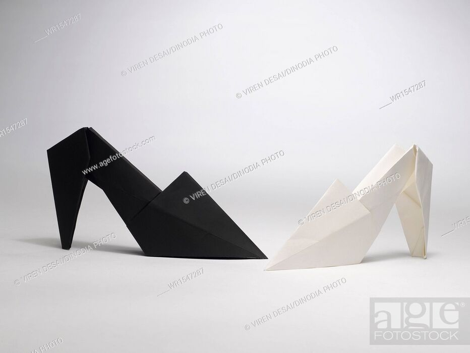 Stock Photo: origami shoes India.