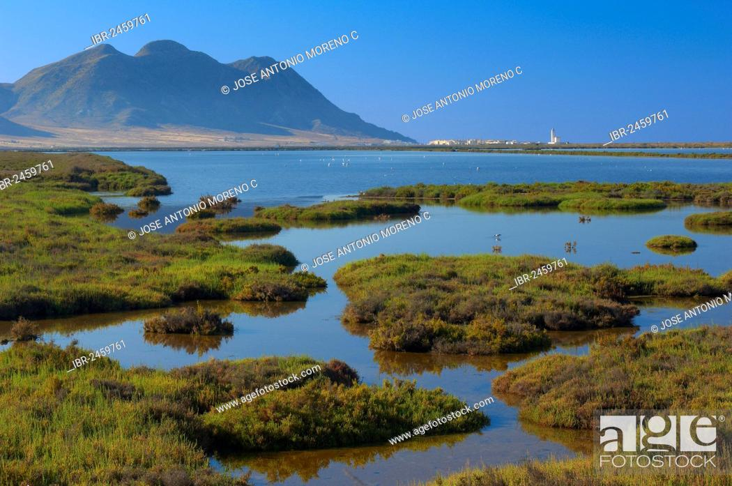 Imagen: Almadraba de Monteleva, saltworks, Cabo de Gata-Nijar Natural Park, biosphere reserve, Almeria province, Andalusia, Spain, Europe.