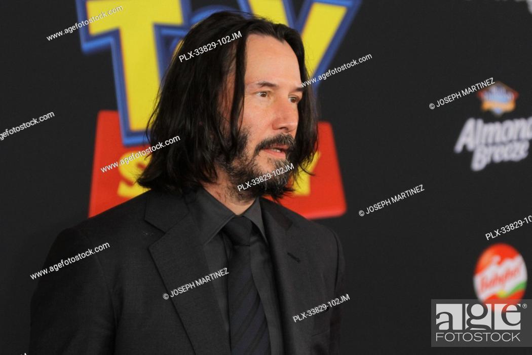 "Stock Photo: Keanu Reeves at Disney/Pixar's """"Toy Story 4"""" World Premiere held at El Capitan Theatre, Hollywood, CA, June 11, 2019. Photo Credit: Joseph Martinez /."