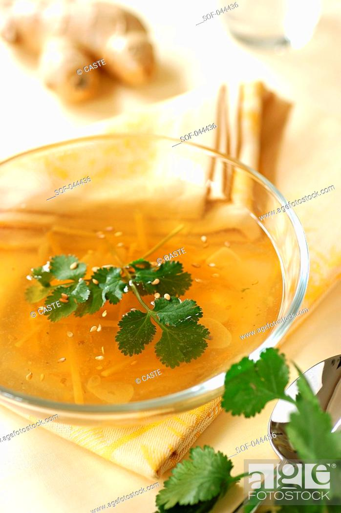 Stock Photo: ginger soup.