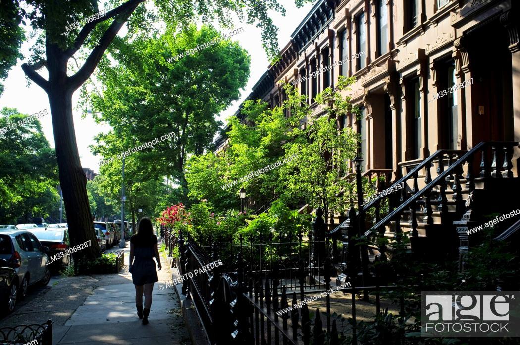 Stock Photo: Park Slope, Brooklyn, New York, USA.