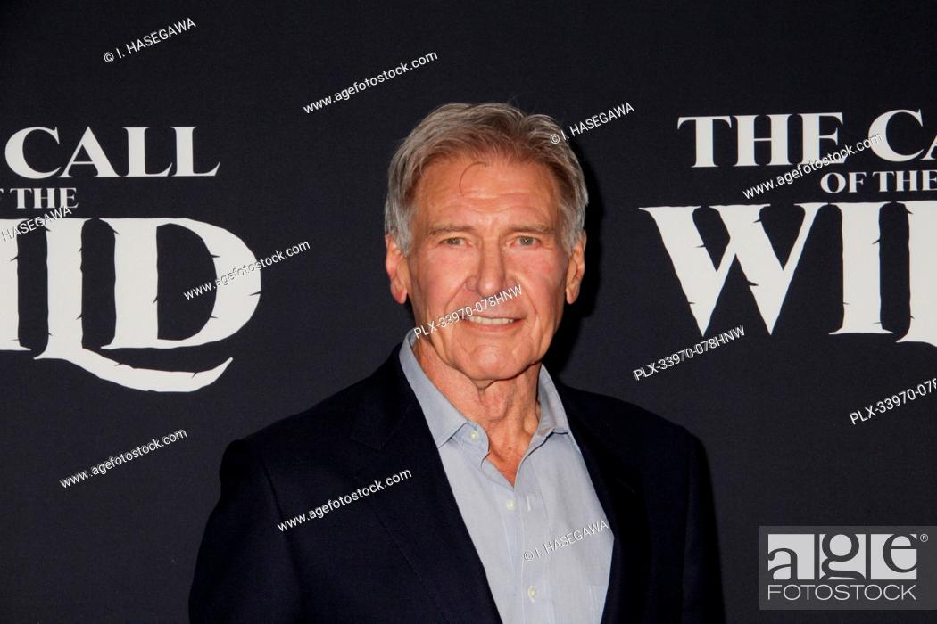 """Stock Photo: Harrison Ford 02/13/2020 The World Premiere of """"""""The Call of the Wild"""""""" held at The El Capitan Theatre in Los Angeles, CA. Photo by I."""
