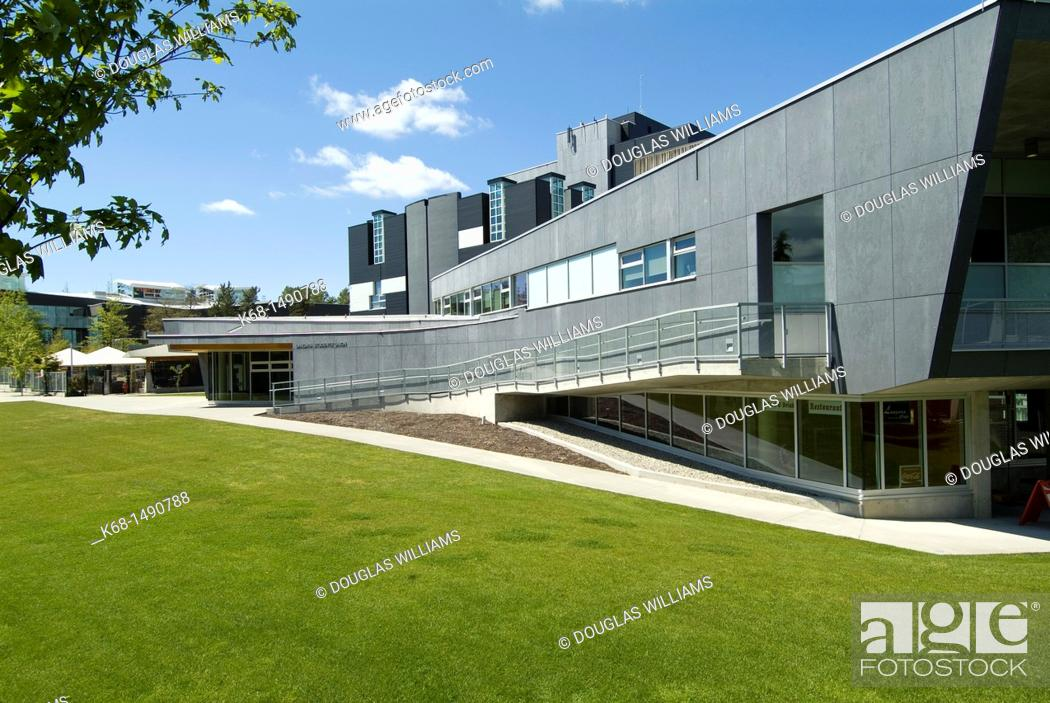 Stock Photo: Student union building at Langara College, Vancouver, BC, Canada.