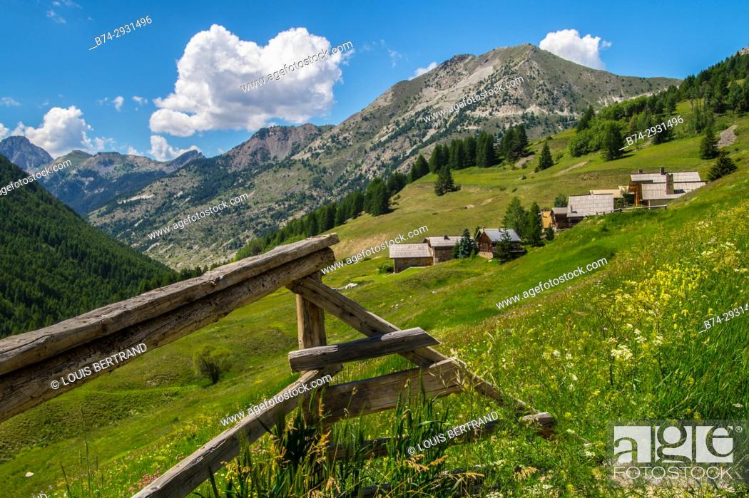 Stock Photo: queyras regional park. France.