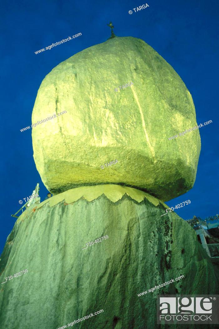 Stock Photo: Kyaik-Tiyo Pagoda (The Golden Rock). Kyaikto. Myanmar (Burma).