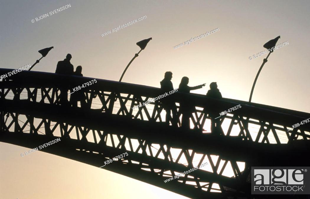 Stock Photo: Walking bridge, Sporenburg, Amsterdam. Holland.