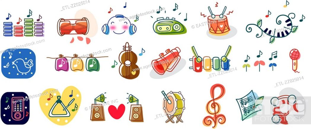 Stock Photo: Close-up of musical instruments.