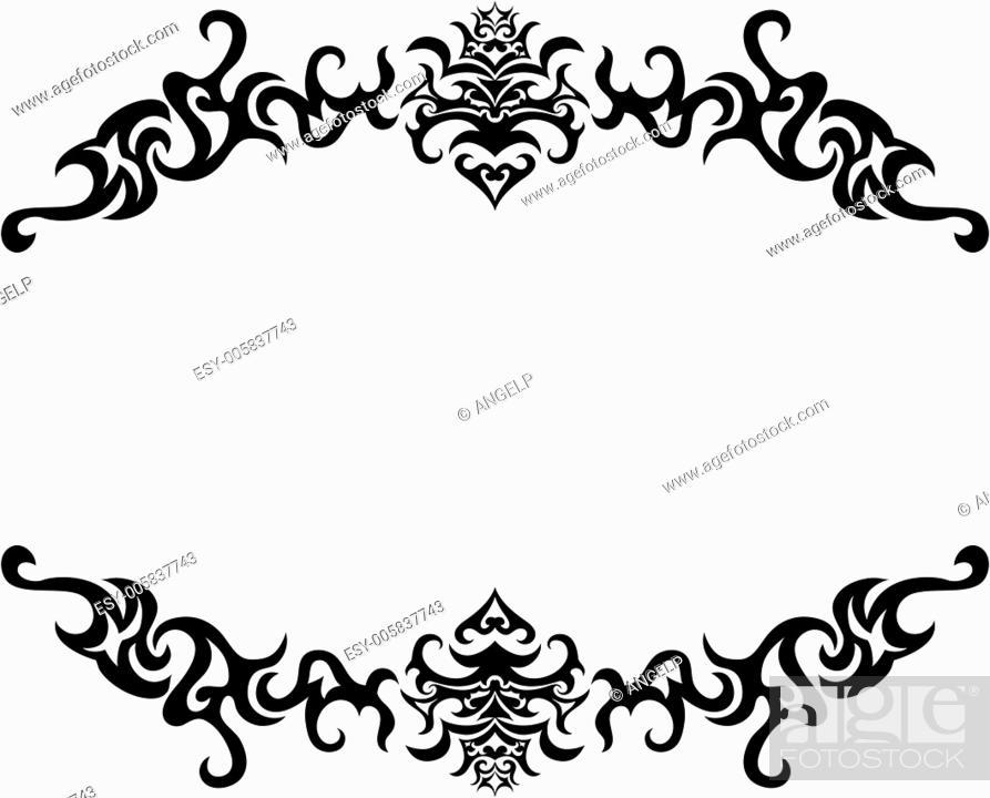 Stock Vector: gothic frame.
